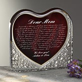 Personalized Letter Heart Sculpture with Mom Poem - 6095