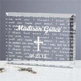 Walk With Jesus Personalized Baptism Gift Keepsake  - 6115
