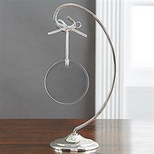Curved Silver Christmas Ornament Display Stand - 6124