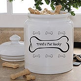 Dog Bone Personalized Dog Treats Jar - 6125