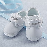 Personalized Christening Shoes for Boys - 6128