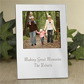 Engraved Silver Personalized Picture Frames - 6131