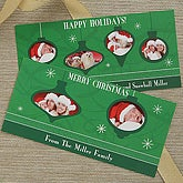 Personalized Christmas Ornament Photo Christmas Cards - Four Pictures