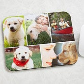 Pet Photo Montage Personalized Computer Mouse Pad - 6136
