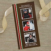 Personalized Photo Christmas Cards - Holiday Stripes - 6137
