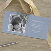Personalized Holly Berry Photo Postcard Christmas Cards