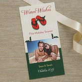 Holiday In The Sand Personalized Photo Christmas Cards - 6145