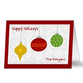 Personalized Christmas Ornament Holiday Greeting Cards - 6158