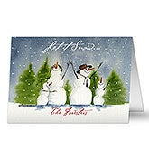 Personalized Snowman Family Holiday Christmas Cards