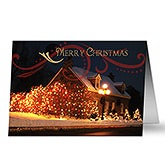 Holiday Home Christmas Lights Personalized Christmas Cards