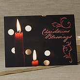 Light Of The World Personalized Candle Christmas Cards - 6174