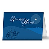 Personalized Silent Night Christian Christmas Cards - 6177