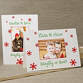 Personalized Naughty or Nice Photo Christmas Cards - Vertical