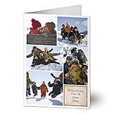 Photo Collage Personalized Digital Photo Christmas Cards - 6186