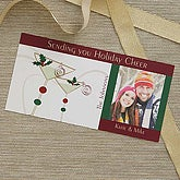 Martini Personalized Photo Postcard Christmas Cards