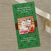 Personalized Holiday Greetings Photo Postcard Christmas Cards