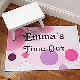 Personalized Kids Time Out Floor Mat for Girls - 6203