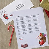 Personalized Christmas Letter from Santa - On The Rooftop - 6235