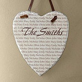 Family Name Personalized Heart Slate Wall Plaque - 6238