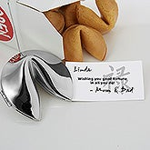 Personalized Silver Fortune Cookie - Graduation Style - 6246