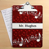 Music Teacher Musical Note Personalized Clipboards - 6263