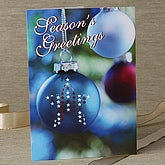 Patriotic Christmas Ornament Personalized Christmas Cards - 6270