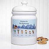 Personalized Christmas Character Holiday Cookie Jar - 6278