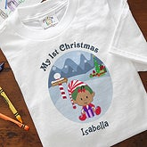 Personalized My First Christmas Character Baby T-Shirt