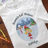 Christmas Character Personalized Baby T-Shirt - Santa's Little Helper