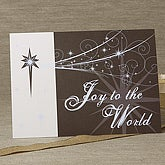 Joy To The World Personalized Christmas Cards - 6296