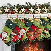 Personalized Christmas Stockings - Gingerbread Boy