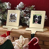 Personalized Pet Picture Frame Christmas Stocking Holder - 6331