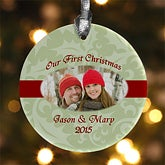 Our Love Personalized Romantic Photo Christmas Ornament - 6339