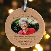Personalized Photo Memorial Christmas Ornament - 6352