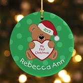 My First Christmas Personalized Baby Ornament - 6353