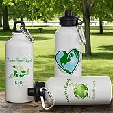 Go Green!© Personalized Water Bottle
