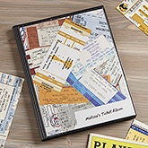 Personalized Ticket Stub Scrapbook Album - 6359