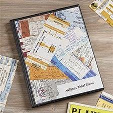 Personalized Ticket Stub Scrapbook Album - 6359