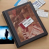 Personalized Concert Ticket Stub Scrapbook Album - 6360