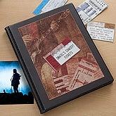 Personalized Concert Ticket Stub Scrapbook Album - 6360