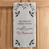 Seasons Greetings Personalized Holiday Wall Plaque - 6380