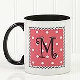 Womens Personalized Polka Bot Coffee Mug - 6386