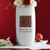 Holiday Monogram© Personalized Ceramic Vase
