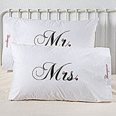 Mr. and Mrs. Collection Personalized Pillowcase Set, etsy stalkers