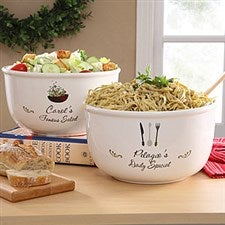Special Dish Personalized Ceramic Serving Bowl - 6413