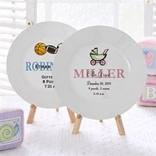 Personalized Baby Plates - Baby Birth Plates - 6419