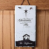 Magic of Christmas Personalized Nativity Slate Wall Plaque - 6430