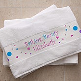 Personalized Bath Towel for Girls - 6442