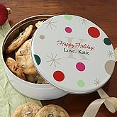Festive Monogram© Personalized Cookie Tin