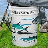 Personalized Fishing Bucket Seat